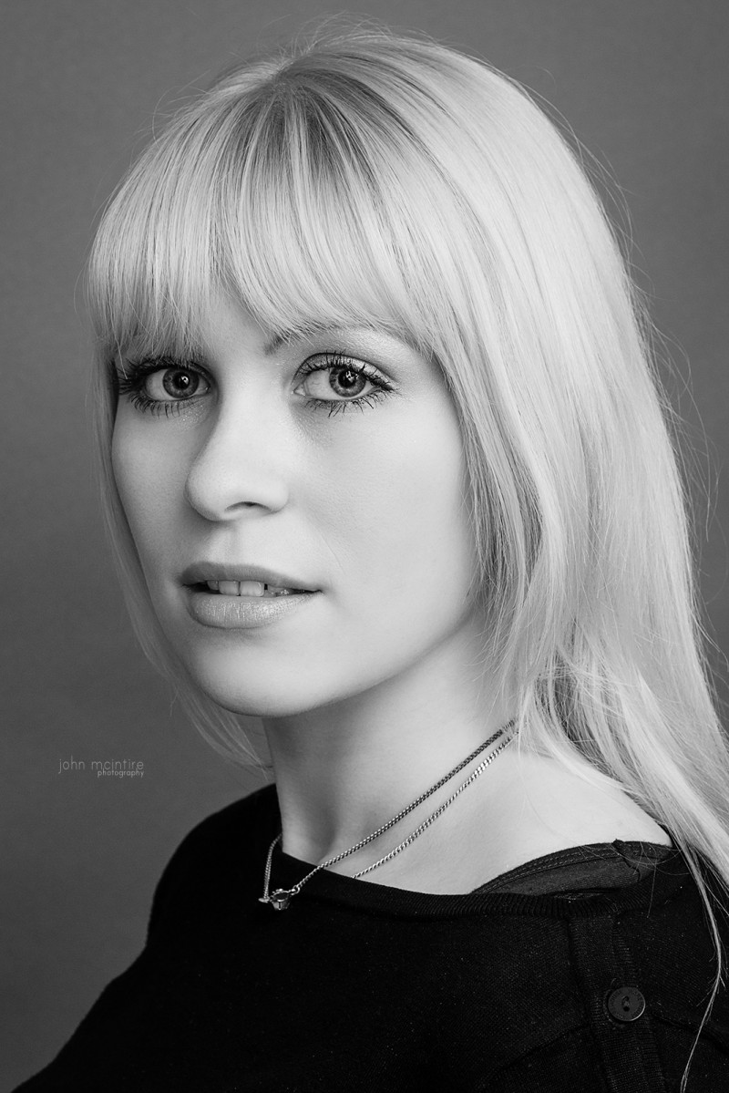 Black and White Headshot